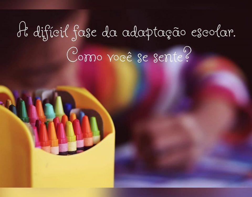 A difícil tarefa da adaptação na escola, como você se sente? Essa é uma fase de ...