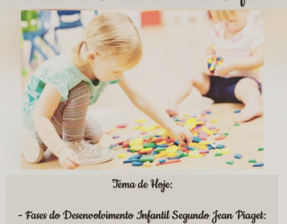 Continuação das fases do desenvolvimento infantil segundo Piaget. - Pré-operatór...