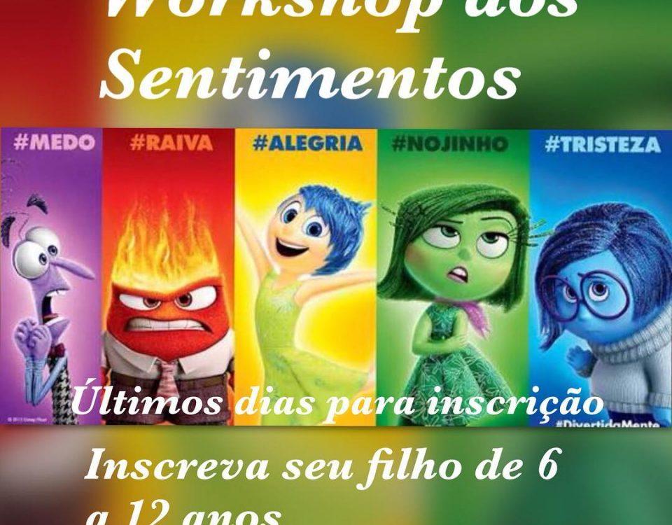 Será um workshop onde trabalharemos e expressão de sentimentos. Com as atividade...