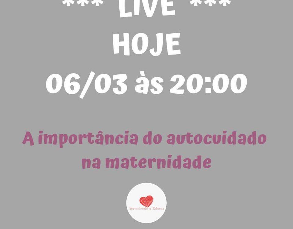 Pessoal ATENÇÃO é hoje quarta-feira dia 06/03 às 20:00, faremos uma live ao vivo...