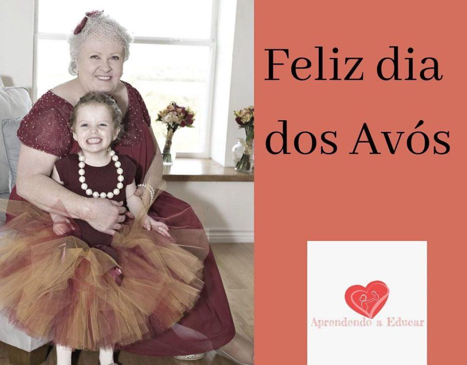 Feliz dia dos avós, são os nossos votos do Aprendendo a Educar. Feliz dia aquele...