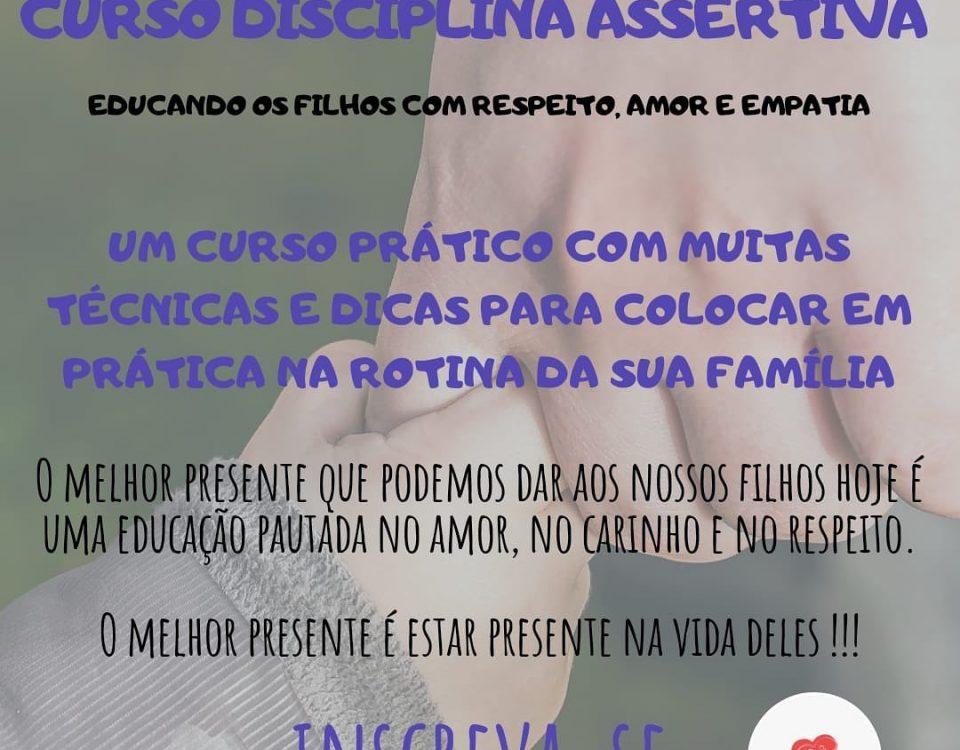 Um curso sobre educação baseada na Disciplina Positiva, onde falaremos de como u...