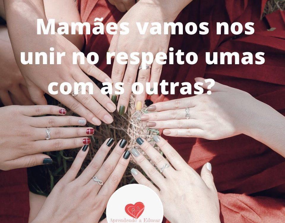 Mamães vamos nos unir no respeito umas com as outras?Já sabemos todas como é d...